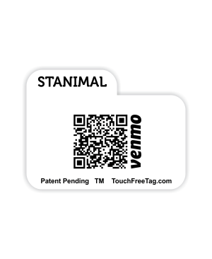 TouchFreeTag QR Code Tab Style NT with Logo