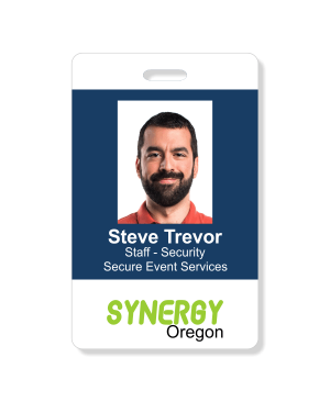 Three Line Conference Photo ID Badge