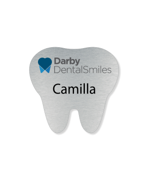 Tooth Shaped Name Badge