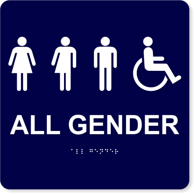 "All Gender Handicapped Sign - ADA Compliant | 10"" x 10"""