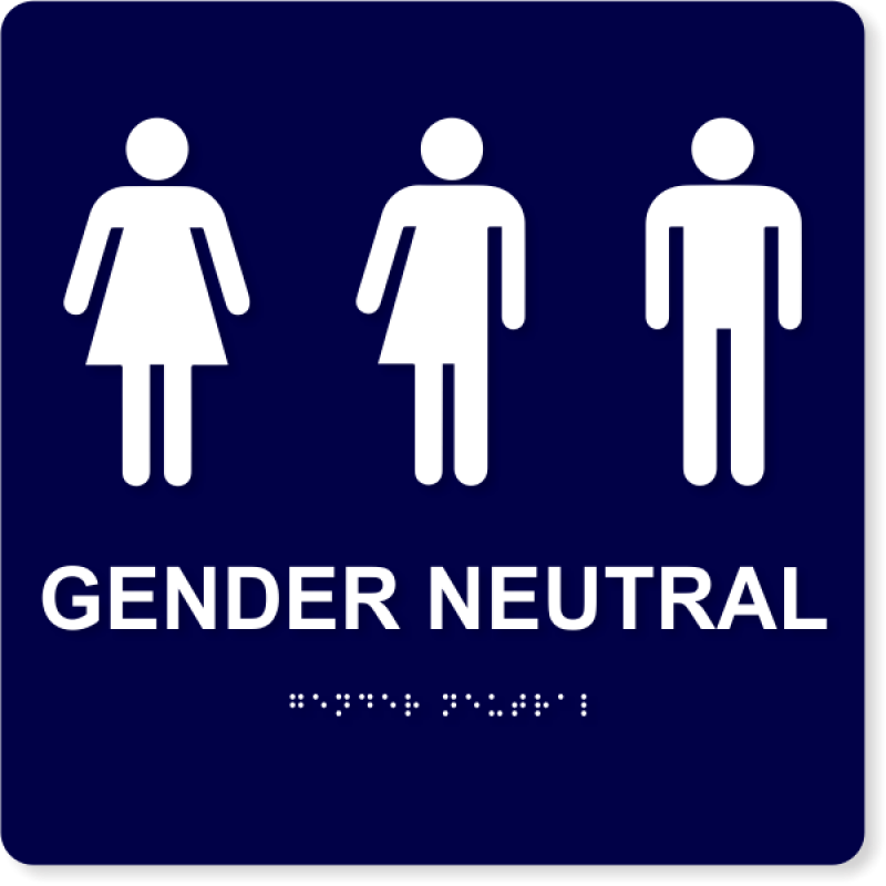 "Gender Neutral with Icons - ADA Compliant | 10"" x 10"""