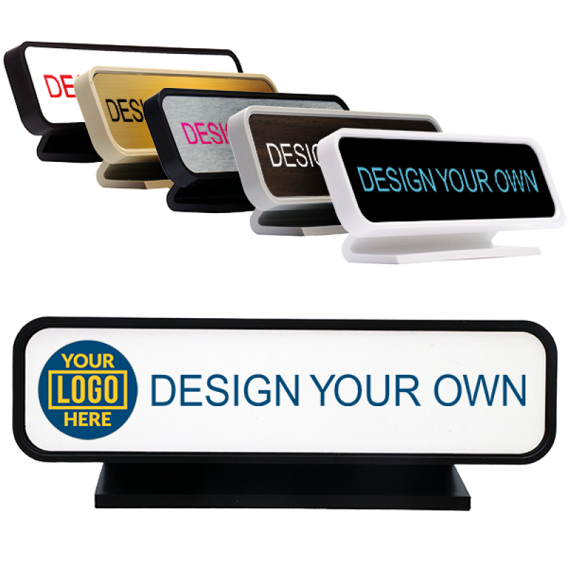 Full Color Desk Sign with Round Corners