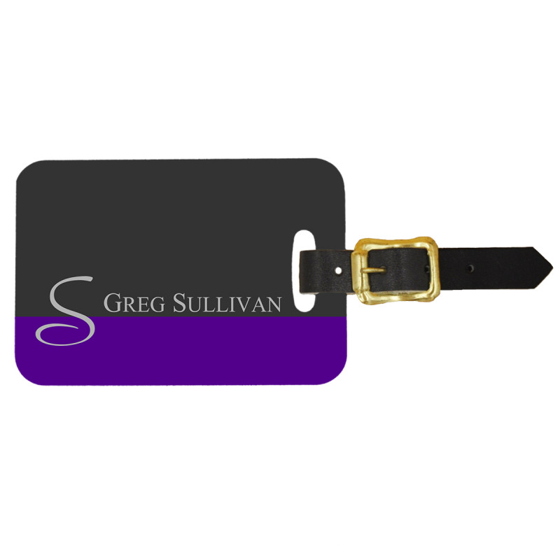 Custom Luggage Tag with Initial Monogram - Front