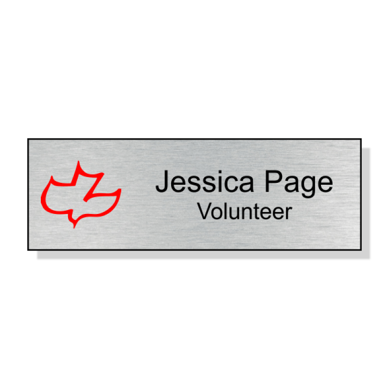 Calvary Full Color Name Tag - Rectangle