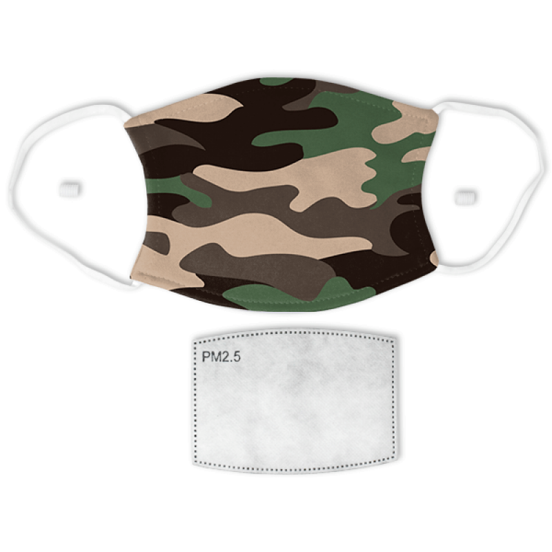 Camouflage Print Adult Face Mask