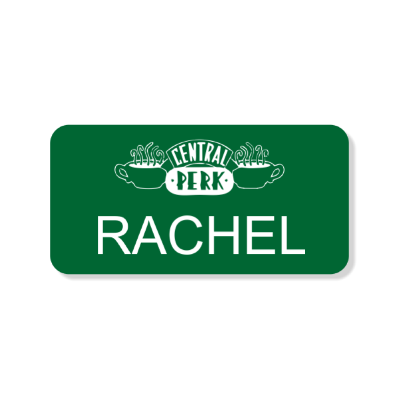 Central Perk Costume Name Tag