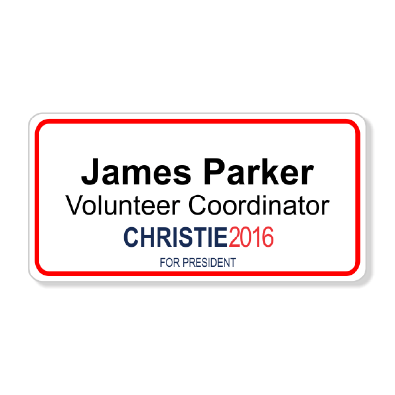 Chris Christie Presidential Name Badge