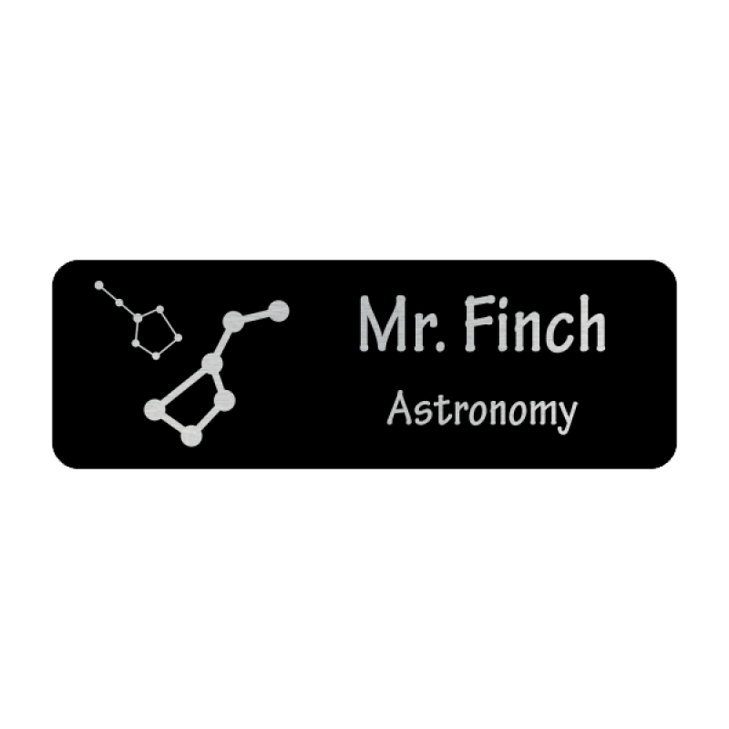 Constellations 2 Line Name Badge