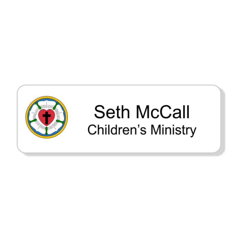 Lutheran Full Color Name Tag - Rectangle