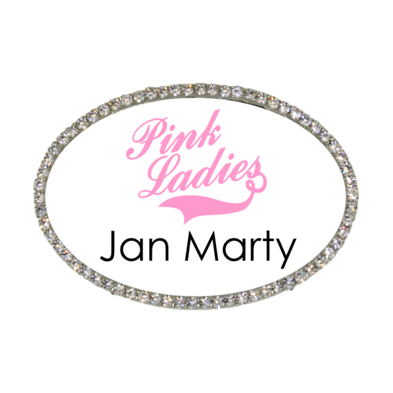 Pink Ladies Jan Marty Costume Name Tag