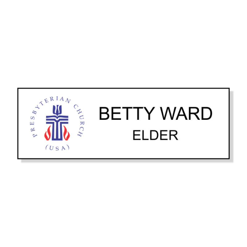 Presbyterian Full Color Name Tag - Rectangle