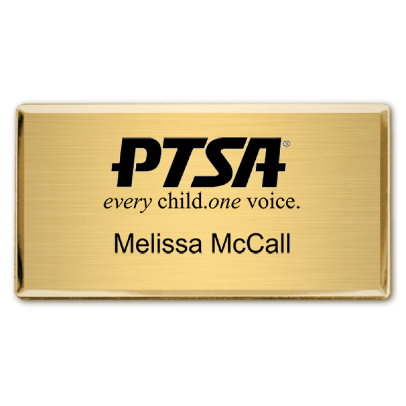 Ptsa Fancy Engraved Name Tag