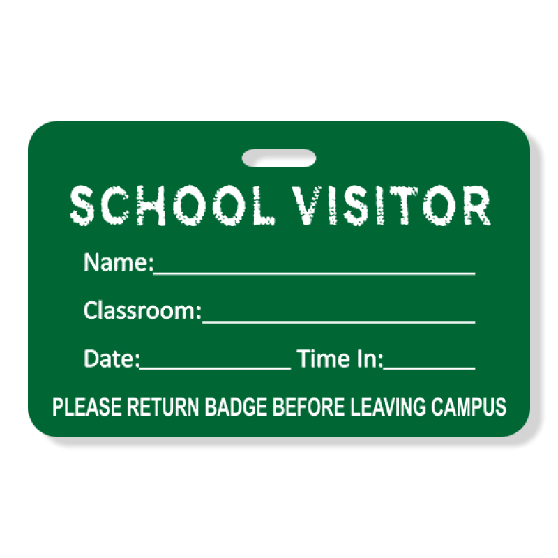 School Chalkboard Visitor Badge