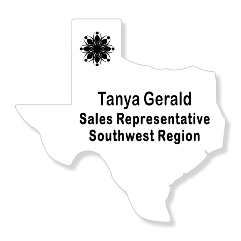 Texas State Shaped Name Tag