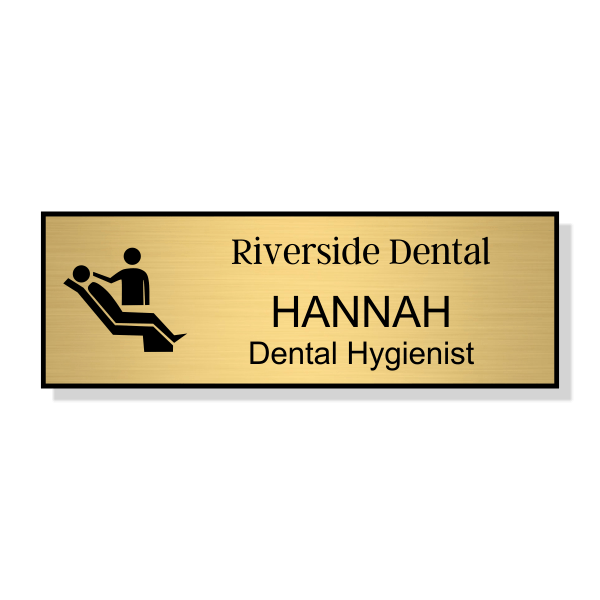 Dental Chair Dentist Name Tag