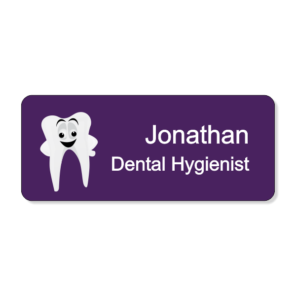 Dental Smiley Tooth Dentist Name Tag