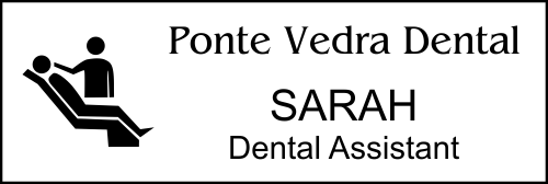 Dental Chair 3 Line Name Tag