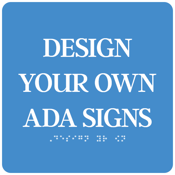 "ADA Sign Square 8"" x 8"""