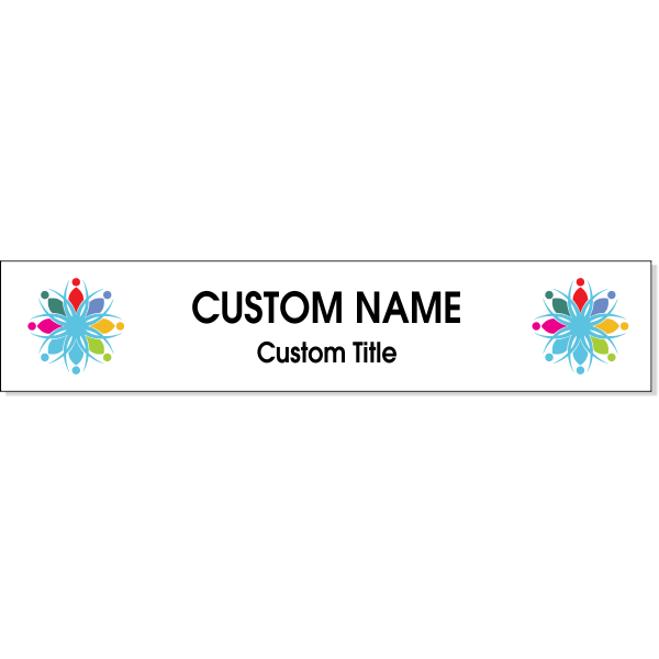 "Double Logo Full Color 2"" x 10"" Wall Plate"