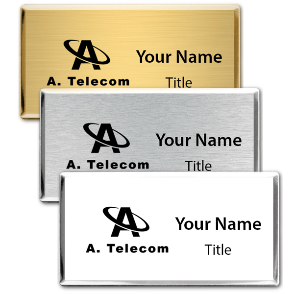 Engraved Executive Beveled Badges - Medium Rectangle