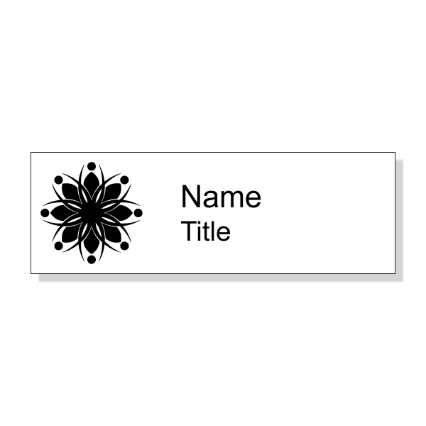 Engraved White Economy Name Tag