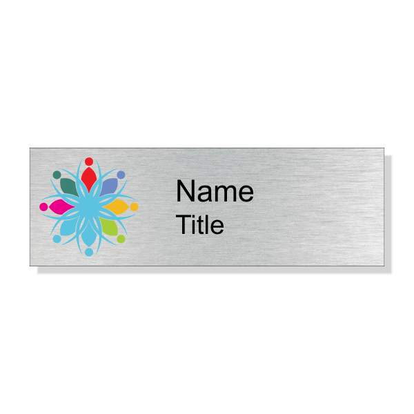 Full Color Silver Economy Name Tag