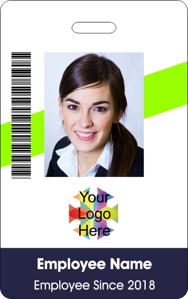 Neons Barcoded ID Badge