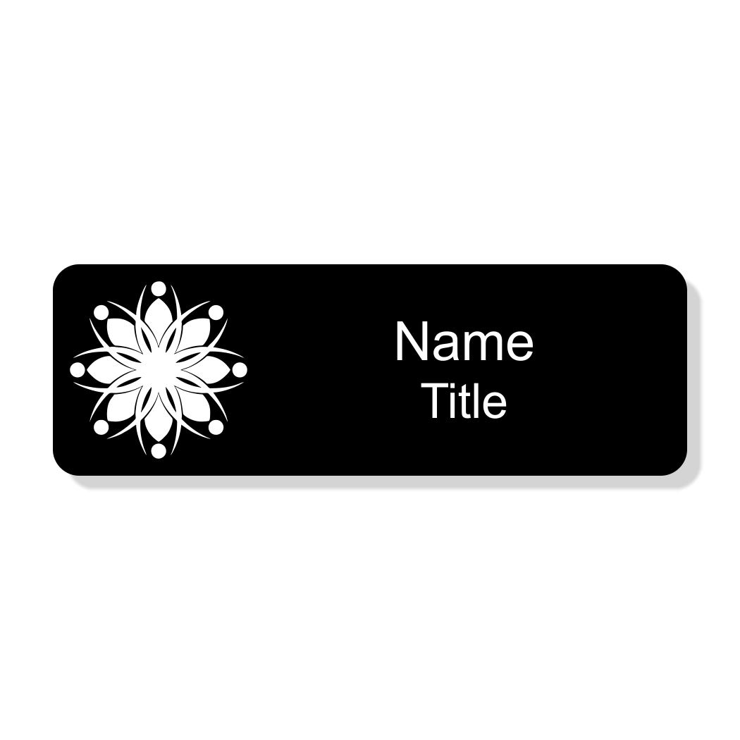 Engraved Black Economy Name Tag