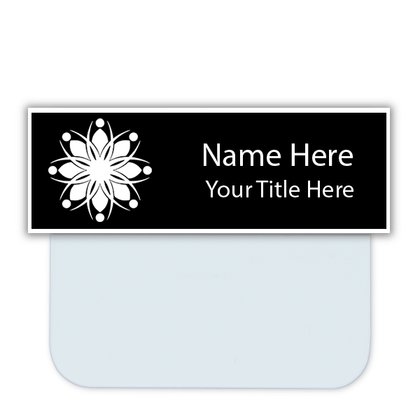 Engraved Name Tag with Pocket Badge Adapter