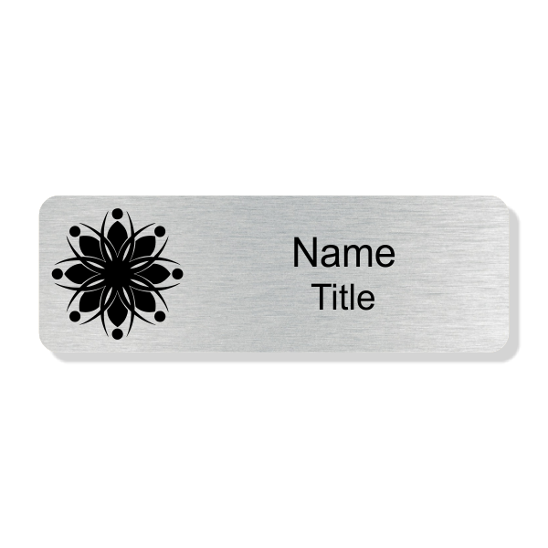 Engraved Silver Economy Name Tag