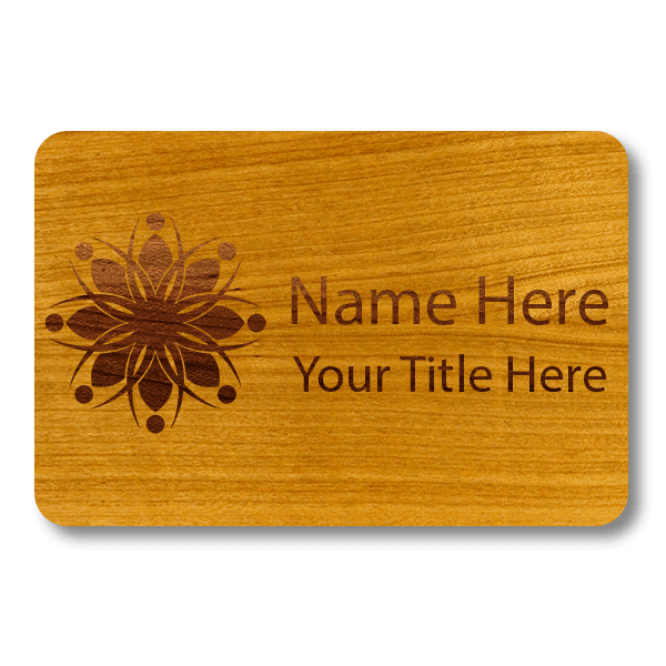 """Engraved Wood Name Tag 
