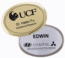 Engraved Executive Beveled Oval Badges