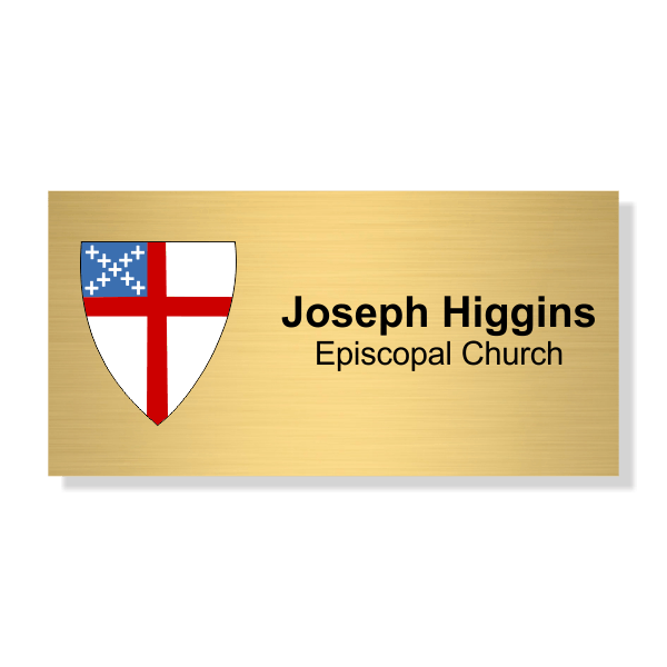 Episcopal Church Name Tag with Logo - Rectangle