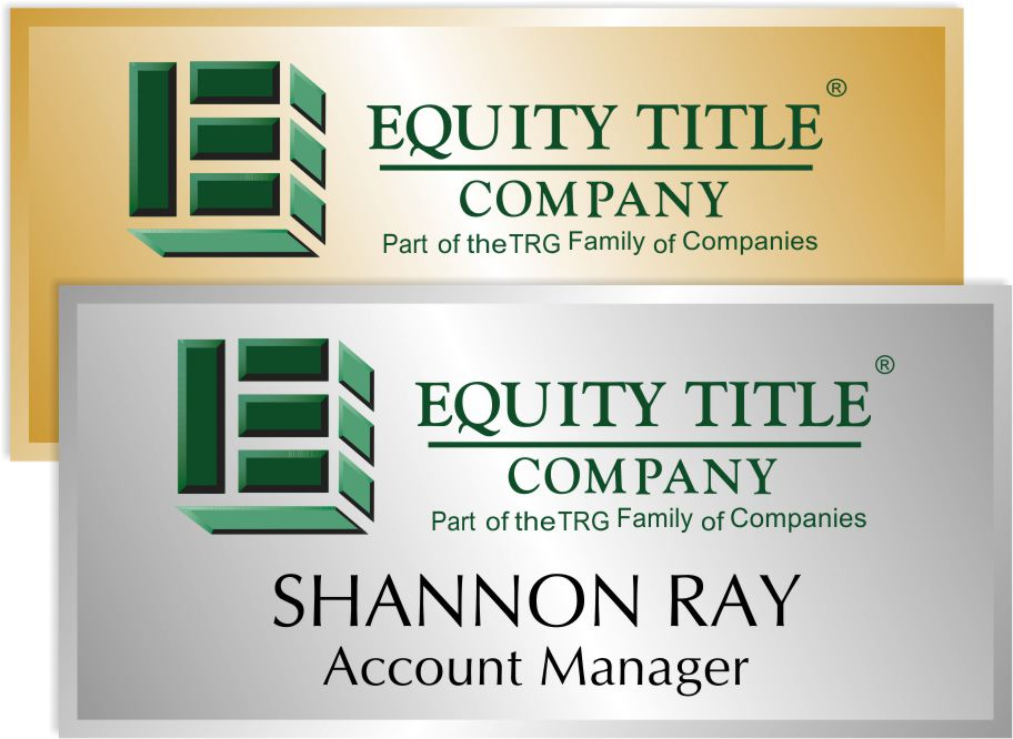 Equity Title Name Badge
