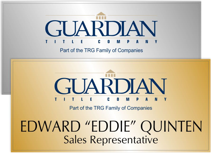 Guardian Title Name Badge