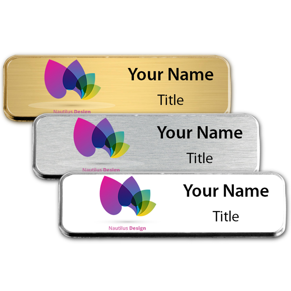 Extra Small Full Color Executive Badges with Rounded Corners