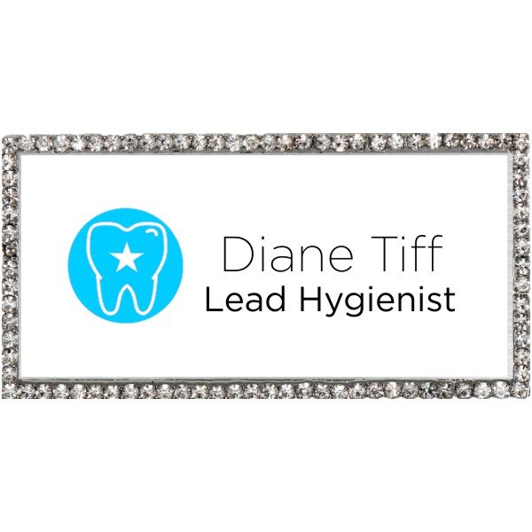 Fancy Dental Hygienist Name Tag