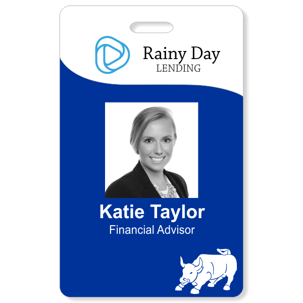 Financial Bull Photo ID Badge