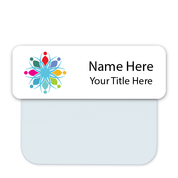 Full Color Name Tag with Pocket Badge Adapter