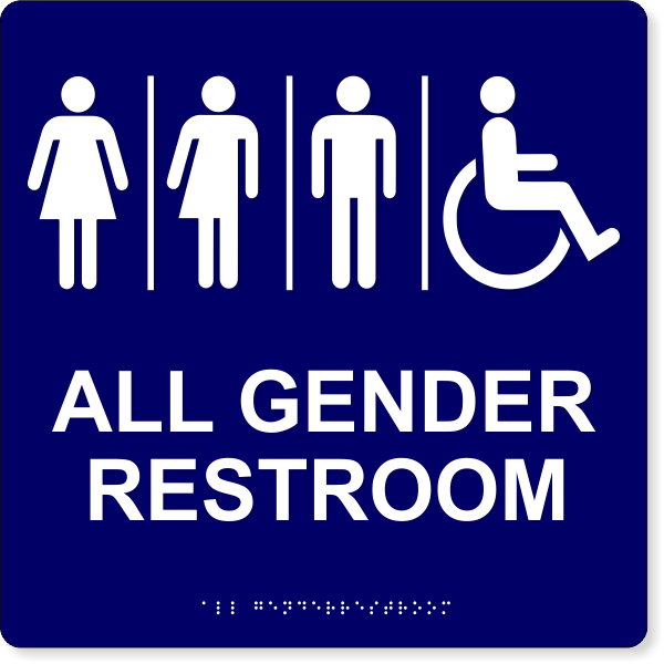 Gender Neutral Restroom ADA Sign