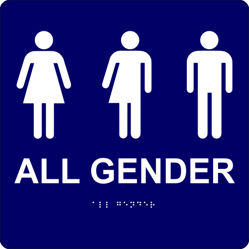 "All Gender with Icons - ADA Compliant 10"" x 10"""