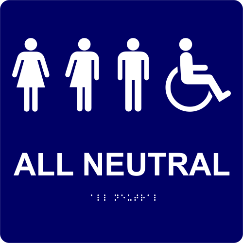 """All Neutral Handicapped Sign - 10"""" x 10"""""""