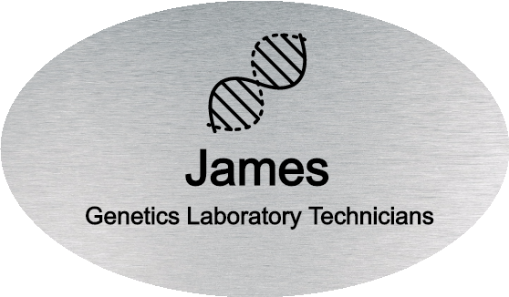 Genetics Laboratory Technicians Oval Name Tag