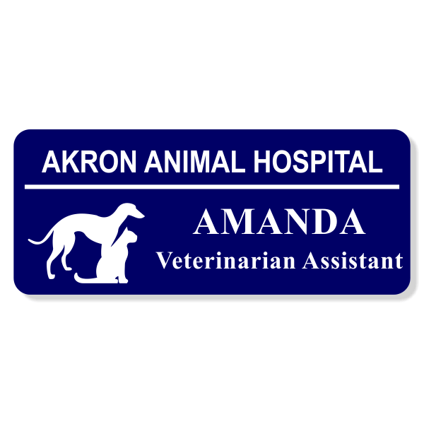 Greyhound With Cat Veterinary Name Tag