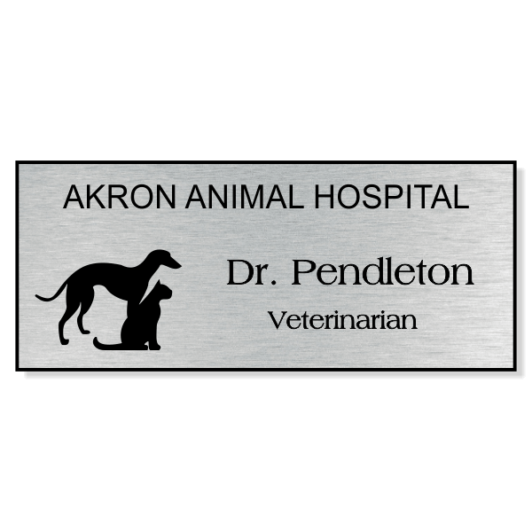 Greyhound With Cat Without Line Veterinary Name Tag