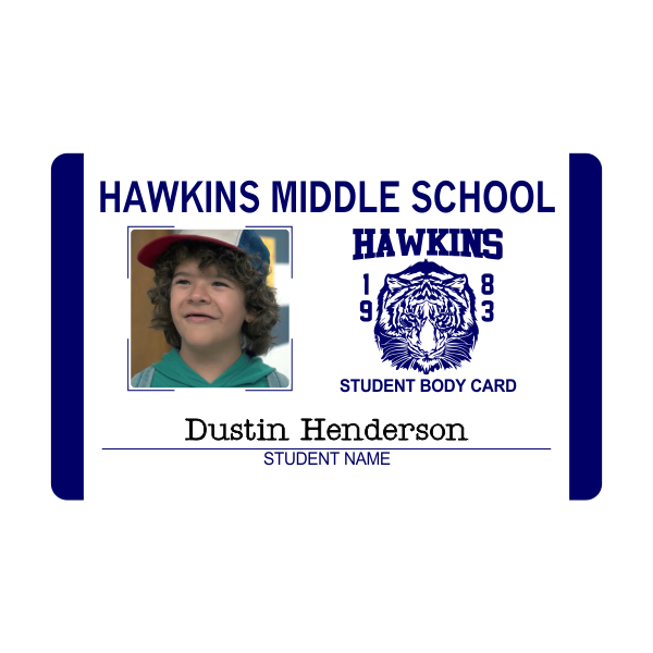 Hawkins Middle School Costume Student ID