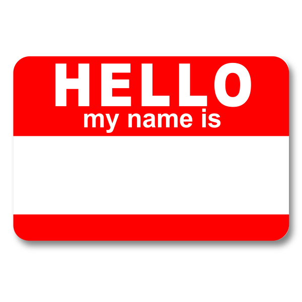 Hello my Name is Dry Erase Reusable Name Tag