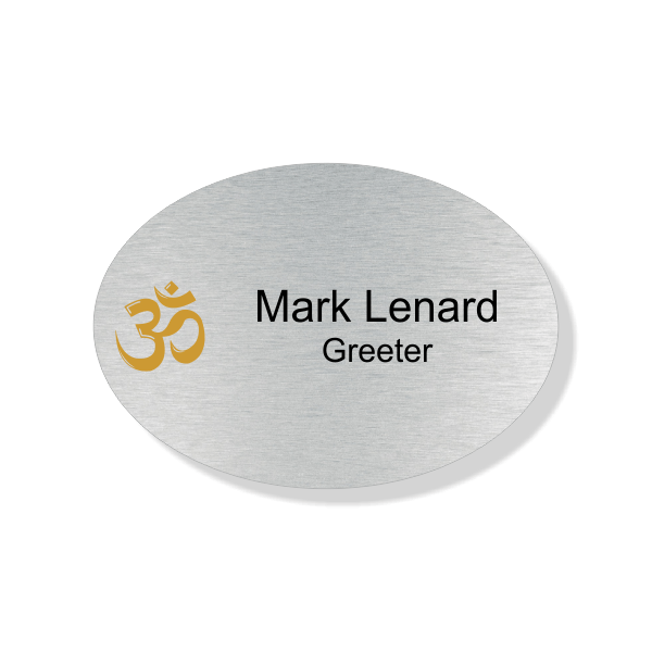Hindu Faith Full Color Name Tag - Oval
