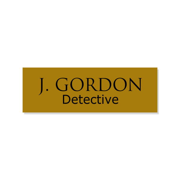 J. Gordon Halloween Costume Name Tag