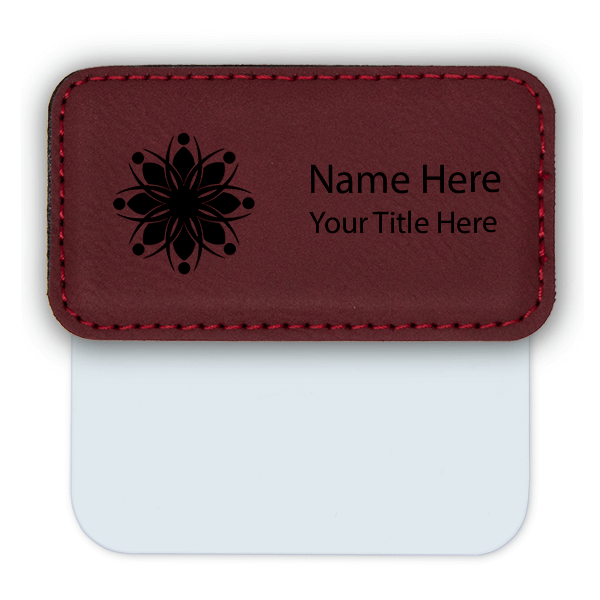 "Leatherette Pocket Badge - 1.5"" x 3"""